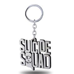 Suicide Squad Keychain 2016 New Key Rings For Gift Chaveiro Car Key Chain Jewelry Movie Key Holder Souvenir YS11258