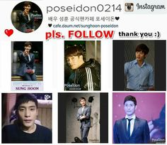 "[ pls. FOLLOW for more EXCLUSIVE Photos ]  https://www.instagram.com/poseidon0214/ Hello cute fans ^^ May I suggest you all pls. "" Follow "" This Instagram account for ""exclusive Photos "" of Sung Hoon Thank you very much ^^"