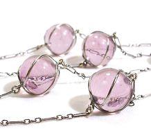 antique lavender pools of light necklace