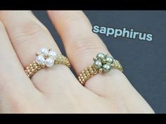 to make a ring using pearls … Diy Beaded Rings, Diy Rings, Beaded Earrings, Beaded Bracelets, Jewelry Tags, Jewelry Crafts, Handmade Jewelry, Jewelry Ideas, How To Make Rings