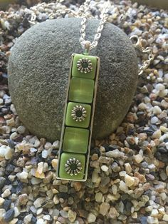A personal favorite from my Etsy shop https://www.etsy.com/listing/275229250/lime-green-glass-tile-mosaic-pendant