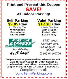 Lax los angeles airport parking discount coupons on for Lax long term parking lot