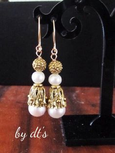 Gold Earing with #Pearls...#OrientalLook