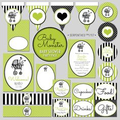 BEBE MONSTER Baby Shower // Custom Printable Party by Line117, $35.00