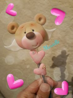 Boligrafos Cute Polymer Clay, Cute Clay, Polymer Clay Crafts, Diy Clay, Clay Bear, Bear Felt, Bear Photos, Polymer Clay Sculptures, Clay Figures