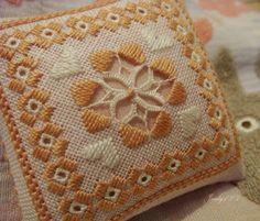 APRENDE A COMO HACER PUNTADAS DE BORDADOS NORUEGOS HARDANGER   Patrones Crochet, Manualidades y Reciclado