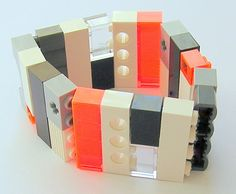 Collectible bracelet Model 13  made from LEGO by MademoiselleAlma, $29.99 #LEGO
