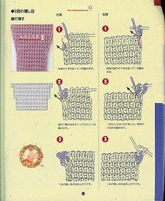 Croche maravilha de arte: PAP croche tunisiano.. aumento, diminuições, emendas…