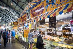 The St. Lawrence Market is one of those infallible pillars of Toronto's historic makeup — sort of like Casa Loma or the CN Tower — where, contrary . Best Restaurants In Toronto, Toronto Life, Downtown Toronto, Carousel Bakery, Peameal Bacon, St Lawrence Market, The St, The Places Youll Go