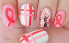 Breast Cancer Awareness Nails Tutorial - a meaningful nailart you should try