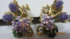Fabulous and Unusual Vintage Pair of Florenza Clip Back Earrings | eBay