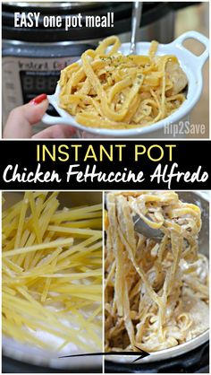 Use your Instant Pot pressure cooker to EASILY make a comforting Chicken Fettuccine Alfredo meal the entire family will LOVE! Cook the chicken, sauce, and noodles all in ONE POT!