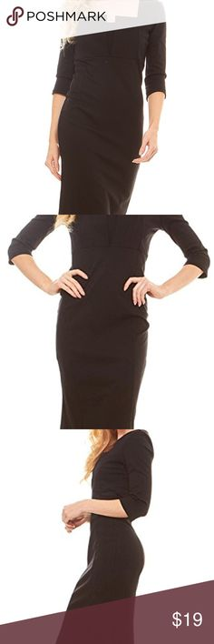 Formal Square Neck Pencil Dress - 3/4 Sleeve 67% Rayon 28% Nylon 5% Spandex STYLISH & ATTRACTIVE: This bodycon square neck dress is the perfect way to do sophisticated glamour from SERANOMA.You can use this Dress for dating, casual, business, office, party, cocktail. FIT:This knee length dress enhances your sophistication and is a must-have for every closet. This dress hugs your curves and shows off your fabulous body figure with Zipper closer on the side, you can easily slip this on Dresses