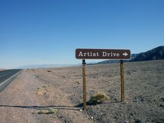 Artist's Drive in Death Valley National Park