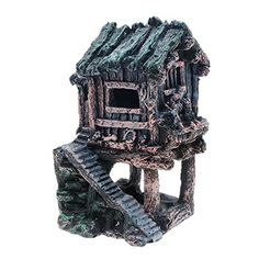 Saim Aquarium Resin Ancient House Decorations Fish Tank Landscape Ornament -- Find out more about the great product at the image link. (This is an affiliate link)