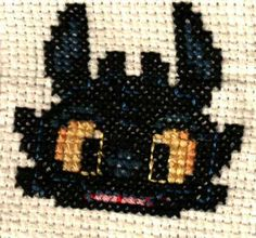 Toothless Cross stitch by chance-333