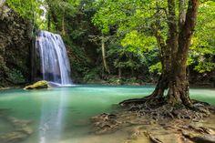 Erawan Waterfall Kanchanaburi Thailand by prasit.suaysang