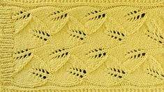 LACE LEAF SCARF - Lace Knitting Repeat Explained Stitch by Stitch. Part 2