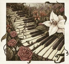 Piano Works - CD Cover by Jorge Tabanera, via Behance
