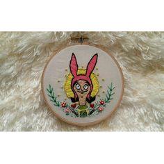 Louise Belcher handmade embroidery wall art hoop art bobs burgers