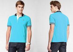 #Polo #Lacoste #bleu #turquoise