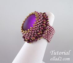 Makalu Ring is a combination of Cubic Right Angle Weave and Peyote stitch with a little bit of embellishment. Beading Tutorial for Makalu Ring is very detailed, with clear beading instructions, step by step and with photos of each step. Seed Bead Tutorials, Beading Tutorials, Jewelry Patterns, Beading Patterns, Beaded Rings, Beaded Jewelry, Diy Jewelry, Beaded Bracelets, Jewellery