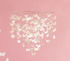 White Butterfly Ceiling Mobile | Pottery Barn Kids