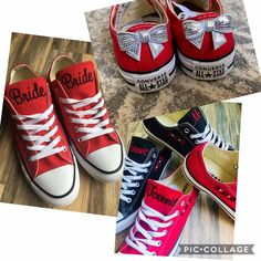 Excited to share this item from my #etsy shop: Bride Shoes with SEQUIN BOW, Wedding Embroidered Sneakers. Groom sneakers, Decorated sneakers (Low Top) Bride Converse, Bride Shoes, Groom Shoes, Converse Low Tops, Converse Sneakers, Star Shoes, On Shoes, Shoe Last, Wedding Bows