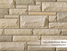 Laurier Building Stone - Ivory White/Mosaic Blend