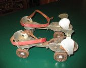 Just like my (now vintage) roller skates. I have mine displayed along with other vintage toys – scooter, marbles, jacks, ivory dominos, and board games. Have the skate key somewhere in this house. :D