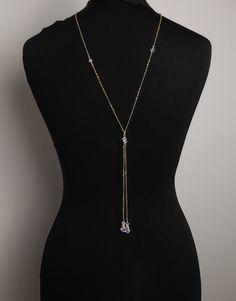 Backdrop necklace, Silver, gold, rose gold Swarovski crystal backdrop, clear, wedding bridal, Gatsby, vintage inspired for Choker, brides, by SophiabeauBridal on Etsy