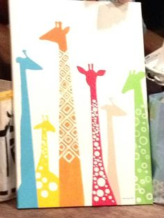 Giraffe painting for baby Wick finished