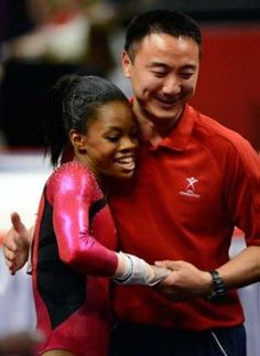 Gabrielle Douglas with Liang Chow (Getty)