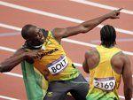 Usain Bolt goes back-to-back.  #London2012