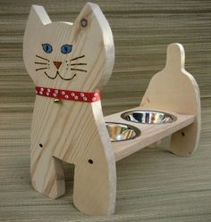 Raised Cat Bowl Cat Dish/Feeder15 in High by cocollectibles