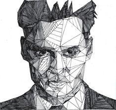 Celebrities pen portraits by Josh Bryan | purple leaves
