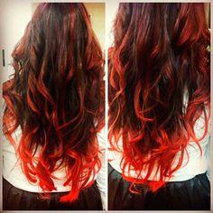 cabelo ombre hair vermelho