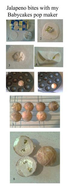 Recipe idea: jalapeno bites, made with my Babycakes Pops Maker. - Recipe idea: jalapeno bites, made with my Babycakes Pops Maker. Produced with … - Babycakes Recipes, Babycakes Cake Pop Maker, Donut Recipes, Gourmet Recipes, Finger Food Appetizers, Yummy Appetizers, Baby Cakes Maker, Jalapeno Bites, Donut Maker