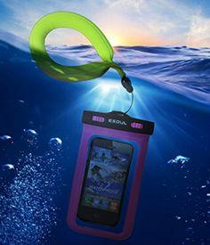 Waterproof your phone! You know you're going to want to take pictures of your cruise or beach vacation and having a waterproof phone case will let you take a whole lot more amazing travel photos! So clearly, an underwater or waterproof camera is an essential travel accessory to put on your cruise packing list or beach packing list alongside your beach outfit or cruise outfit. This is an ESoulTech waterproof phone case and floating camera strap.