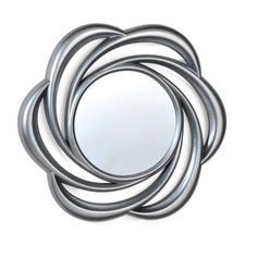 @Overstock - Elements 24-inch Silver Floral Swirl Mirror - This Elements Silver Floral Swirl Mirror is strikingly modern, with a swirling floral design that circles out from the center of the mirror to create a unique, eye-catching frame. The plastic frame has a contemporary silver finish.  http://www.overstock.com/Home-Garden/Elements-24-inch-Silver-Floral-Swirl-Mirror/9067501/product.html?CID=214117 $33.49