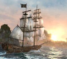 Assassins ship - Android wallpaper @mobile9 #digital #graphic #art