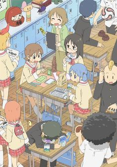 From left to right, top to bottom: Izumi Sakurai (桜井 泉), Annaka Haruna (安中 榛名), Aioi Yūko (相生 祐子), Minakami Mai (水上 麻衣), Naganohara Mio (長野原 みお), Nakanojō Tsuyoshi (中之条 剛), Fe-chan (フェっちゃん) and Tanaka (田中).