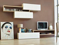 muebles para tv minimalista silla madera | Decoración | Pinterest