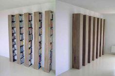 ZUILEN BOEKENKAST - Dutch Designer Erik Jansen. Deze schitterende kasten zijn gemaakt van Amerikaans notenhout.