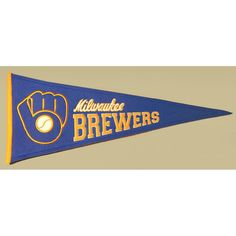 Milwaukee Brewers MLB Cooperstown Pennant (13x32)