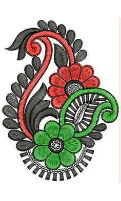 Beautiful Applique Design For Girls Dresses Indian sari Embroidery Motifs, Embroidery Fashion, Silk Ribbon Embroidery, Hand Embroidery Designs, Applique Designs, Paisley, Quilting Templates, Hand Art, Fabric Painting