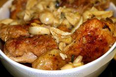 Pollo al ajillo - receta facil y deliciosa