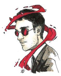 a bit of ink and Matt Murdock Marvel Fan Art, Marvel Series, Marvel Dc Comics, Comics Universe, Marvel Cinematic Universe, Daredevil Punisher, Elektra Natchios, Defenders Marvel, Illustrations