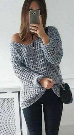 Крупный узор спицами для вязания пуловера   Узоры спицами
