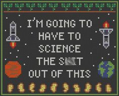 The Martian Cross Stitch Sampler I'm Going by AStitchinSpacetime